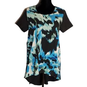 Romeo & Juliet Couture Blue High Low Tunic Top NWT